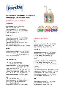 Distributor list for Precise