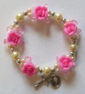 Elastic Pink Rose Apparition Bracelet.