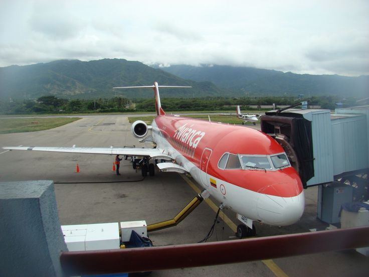 An old Avianca F 100 at Santa Marta Airport, Colombia