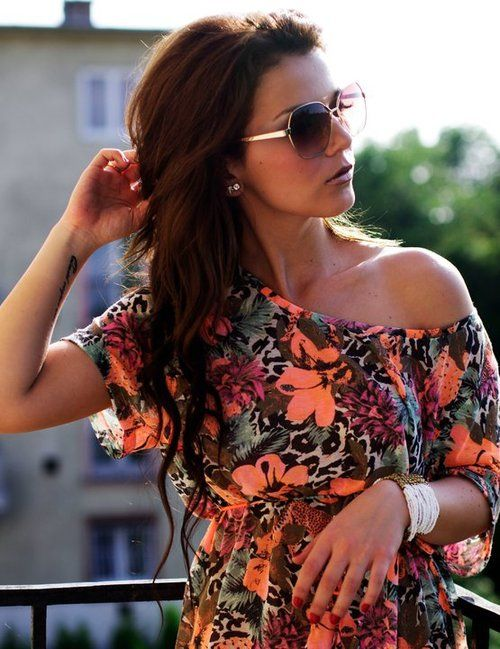 cute shirtFashion, Hair Colors, Style, Clothing, Shirts, Outfit, Dresses, One Shoulder, Bright Colors