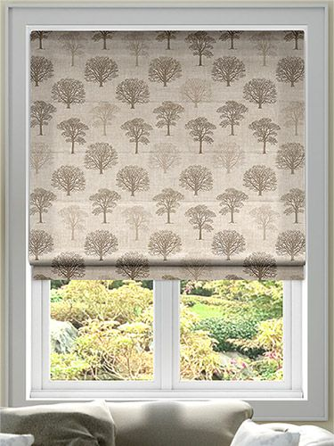 Little Orchard Natural Roman Blind from Blinds 2go