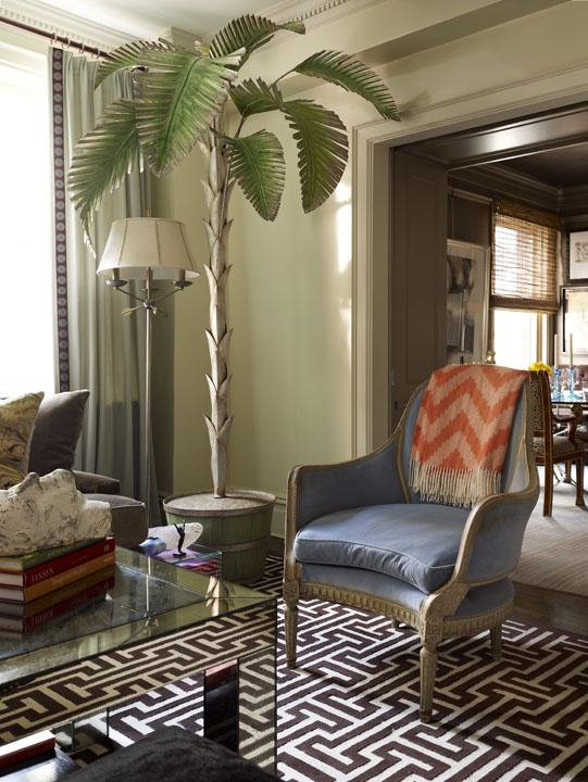 116 best tropical style images on pinterest arquitetura for Palm tree living room ideas