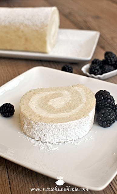 Whipped Cream Cake Roulade (the whipped fat adds volume and moistness and the result is a light and tender cake. The cake is perfect with just about anything fruity, be it citrus curds, a drizzle of a thick fruit coulis, or fresh from the garden berries.)