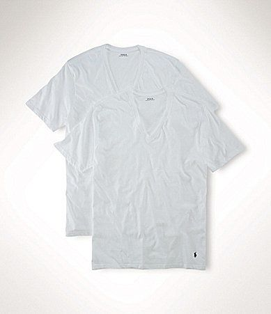 Polo Ralph Lauren Big & Tall Classic-Fit Cotton V-Neck 2-Pack