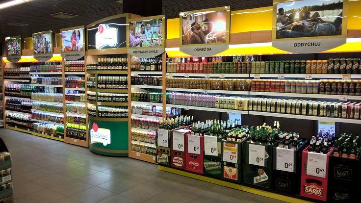Shop in shop, Pilsner Urquell, Billa (OC central Bratislava)