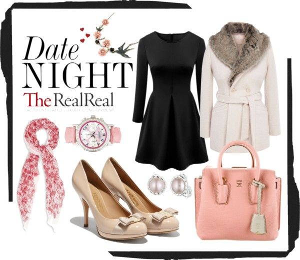 """""""Date Night Dressing with The RealReal: Contest Entry"""" by noemifleming-realtor ❤ liked on Polyvore"""