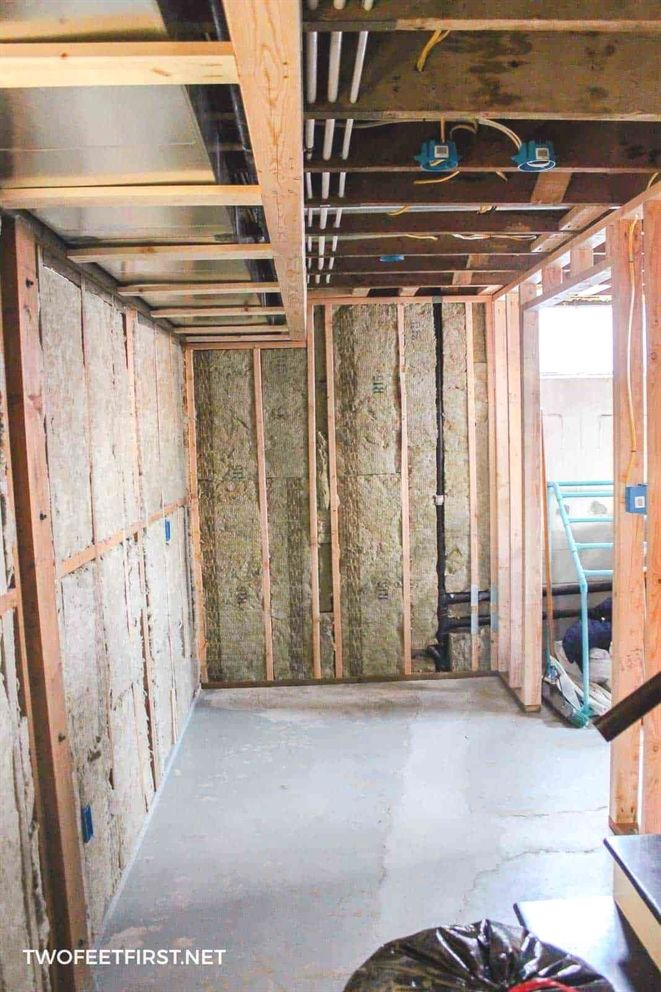framing a basement wall against concrete is not as hard as you think rh pinterest com Painting Basement Concrete Walls Poured Painting Basement Concrete Walls Poured