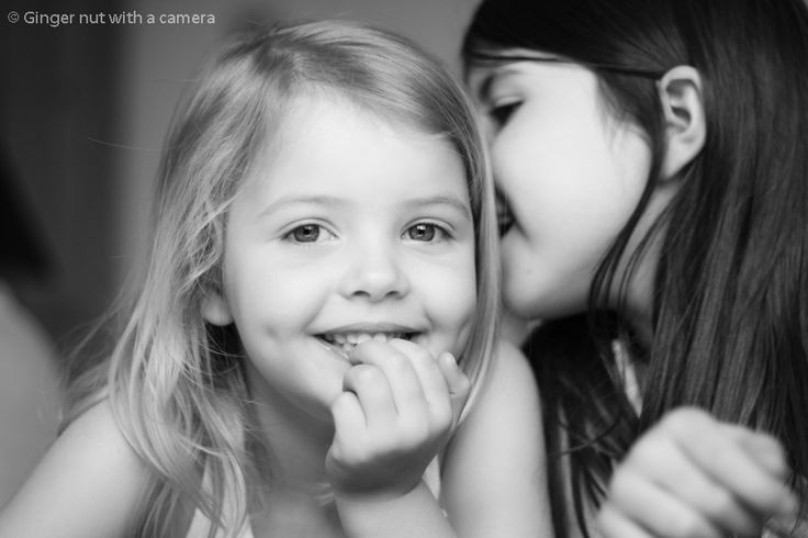 Sisters Black and white Children's photography