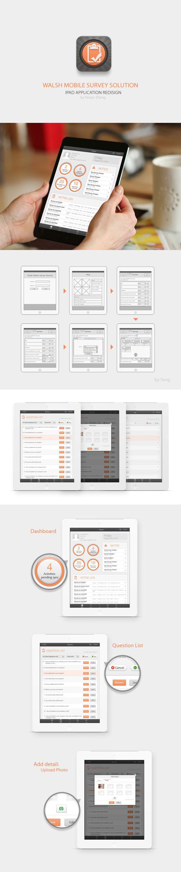 Mobile Survey Solution App UI Redesign by Pq Z, via Behance