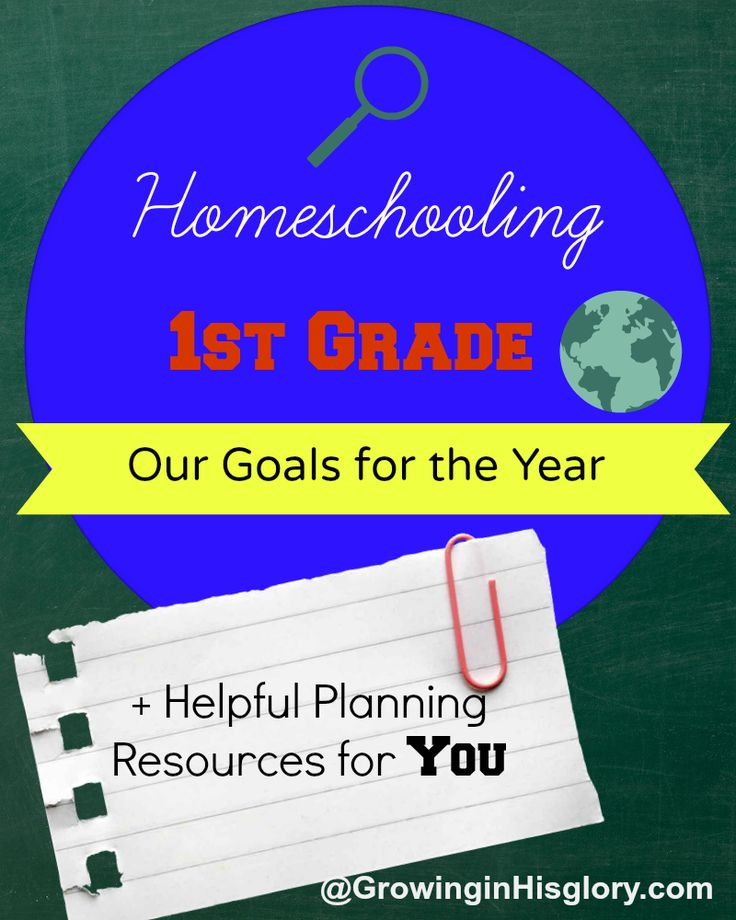 Growing in His Glory: Homeschooling First Grade: Our Goals + Planning Resources