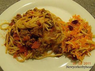 """Baked spaghetti"" (fra bogen ""Home cooking with Trisha Yearwood"" af Trisha Yearwood)……"