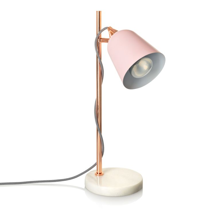 Buy the Pink Table Lamp with Marble Base at Oliver Bonas. Enjoy free UK standard delivery for orders over £50.