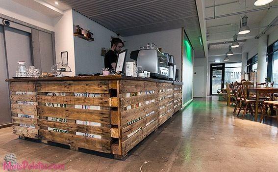 cafe bar com decoração de pallet - Pesquisa Google