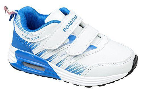 gibra , Baskets pour fille - blanc - blanc/bleu, - Chaussures gibra (*Partner-Link)