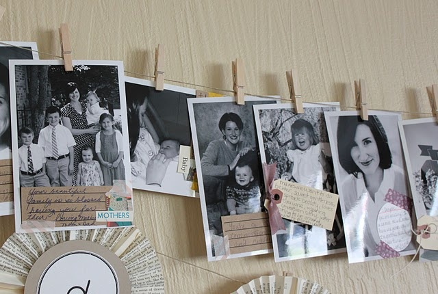birthday banner surprise - childhood pictures with pre-delivered notes from guests