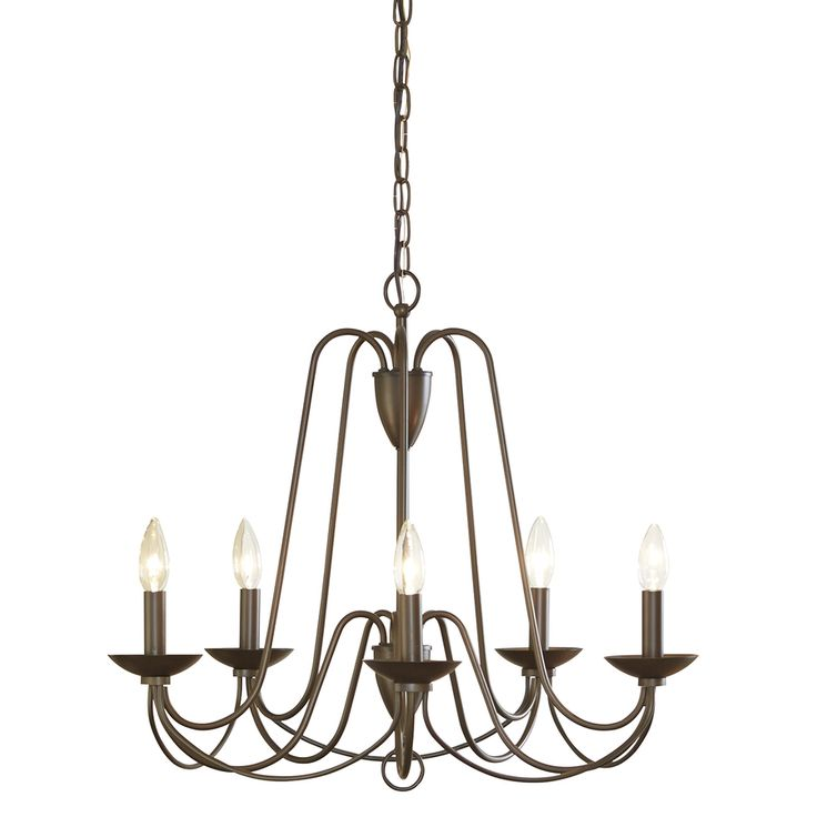 Formal Dining Light   Allen + Roth Wintonburg 24.25 In 5 Light Aged Bronze