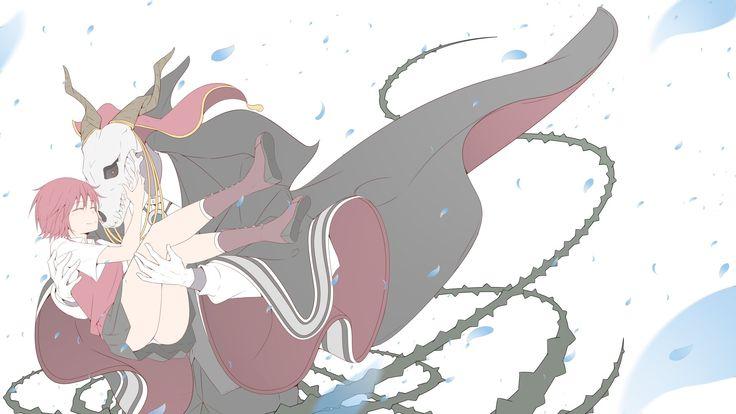 Anime The Ancient Magus' Bride  Short Hair Red Hair Chise Hatori Elias Ainsworth Crâne Skirt Fond d'écran