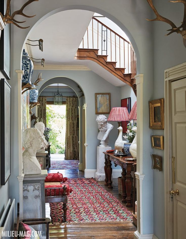 Halls must not be the Cinderella of the Home.  Inside Penny Morrison's 18th Century Welsh Country Home
