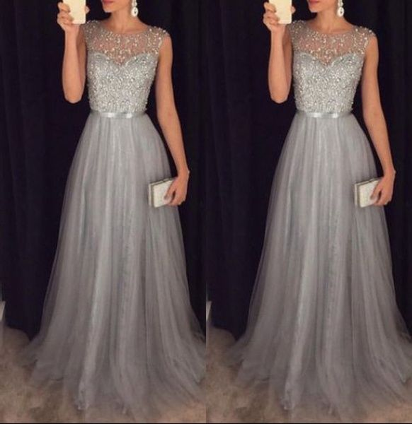 Women Formal Wedding Bridesmaid Long Evening Party Ball Prom Gown