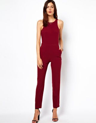 ASOS Jumpsuit with Chic Racer Detail Asos