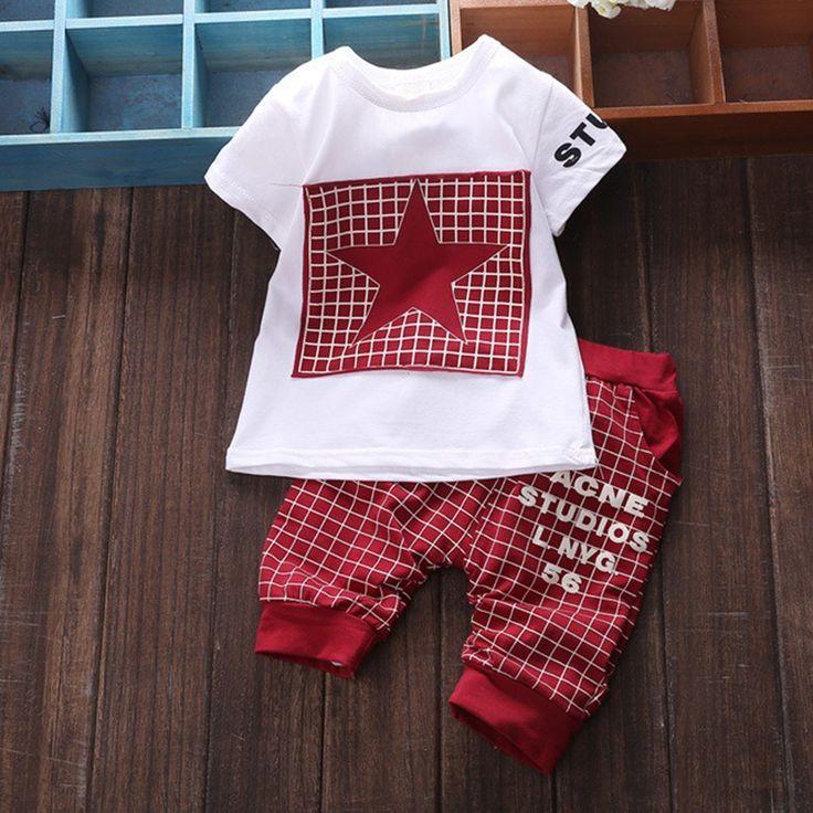 $7.99 (Buy here: https://alitems.com/g/1e8d114494ebda23ff8b16525dc3e8/?i=5&ulp=https%3A%2F%2Fwww.aliexpress.com%2Fitem%2FBrand-Summer-Star-spiderman-Kids-Clothes-Sets-Baby-boy-Clothing-short-T-shirt-plaid-Medium-Pants%2F32778432415.html ) Brand Summer Star spiderman Kids Clothes Sets Baby boy Clothing short T-shirt + plaid Medium Pants Newborn Sport Suits Baby Set for just $7.99