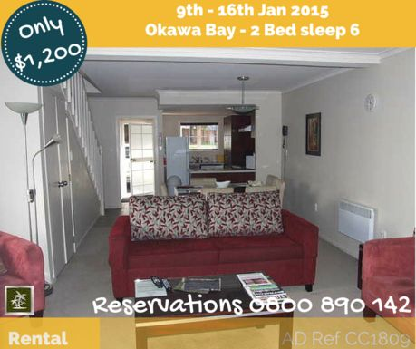 Resort Rental Deals 9th - 16th Jan 2015 - If you would like to book dates for your family getaway - Call us and have a chat. We operate a try before you buy and can answer all your questions.