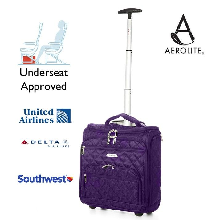 Aerolite Small Underseat Cabin Hand Luggage 2nd Bag for Easyjet Plus, Flexi fare, Upfront & Extra Legroom (fits 45x36x20cm) Kids/Children (Plum) | Huis en tuin | https://www.travelluggagecabinbags.com