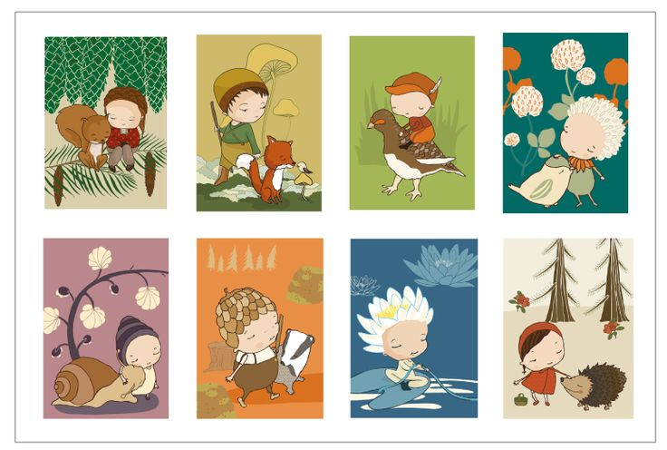 Fairytale postcard set