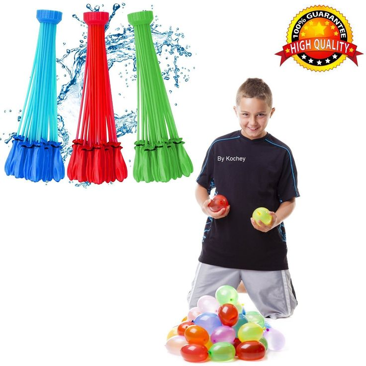 """Big fun"""" zuru bunch o balloons water balloon maker more than 100 balloons in 60 seconds its one of the best outdoor games/toys for 2,3,4 years old, kids, adults ,Total 111 pieces 3 Bunches Quick & Easy Refill - Present Details Helpful For Buyer On Everything """"Detail helpful for buyer"""""""