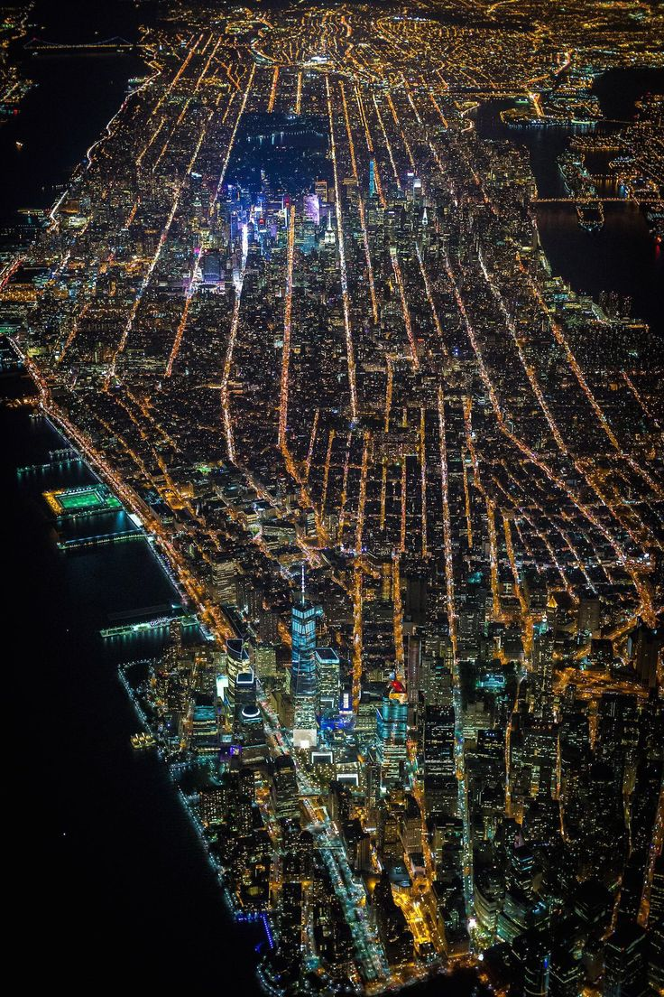 New York from the sky.......city that never sleep.....light alway on....where dreams come true......