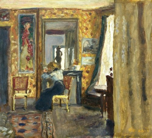 Woman in an Interior - Pierre Bonnard , 1908.  French: 1867-1947  Oil on canvas,