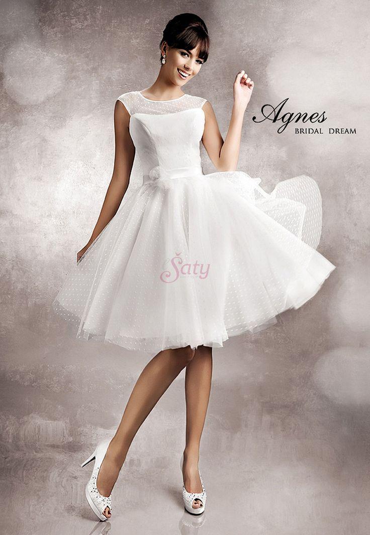 sk - Krátke svadobné šaty Agnes 11254