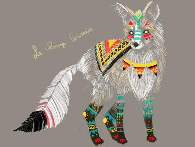 Tribal fox illustration