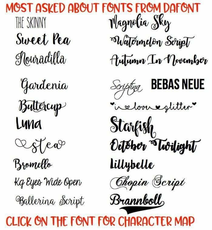 Fonts On Dafont Com Cricut Fonts Dafont Fonts Silhouette Fonts