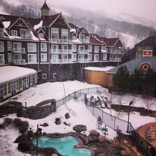 Winter at Blue Mountain Village #DiscoverOntario