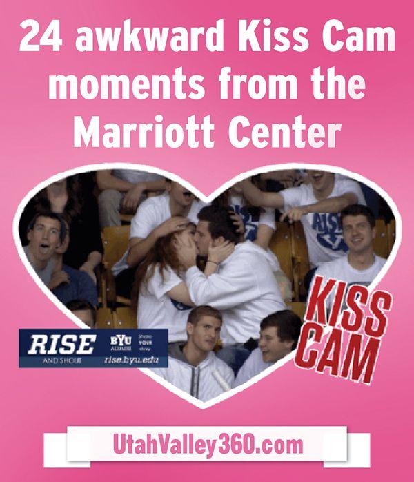 24 awkward Kiss Cam moments from the Marriott Center #byu #KissCam #awkward