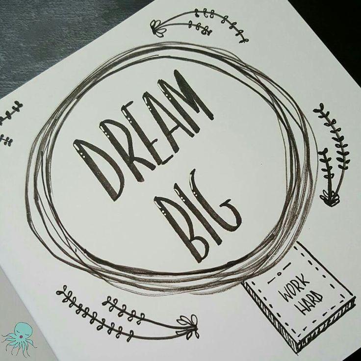 😴😴 #dreamer #dreambig #lettering #inspirationalquote #quotes  #amytangerine #fangerine #silviadeleonhandmade