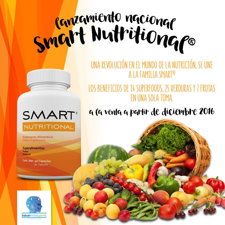 Lanzamiento Nacional SMART NUTRITIONAL® ¡No esperes más, ya a la venta!  www.salud-inteligente.com