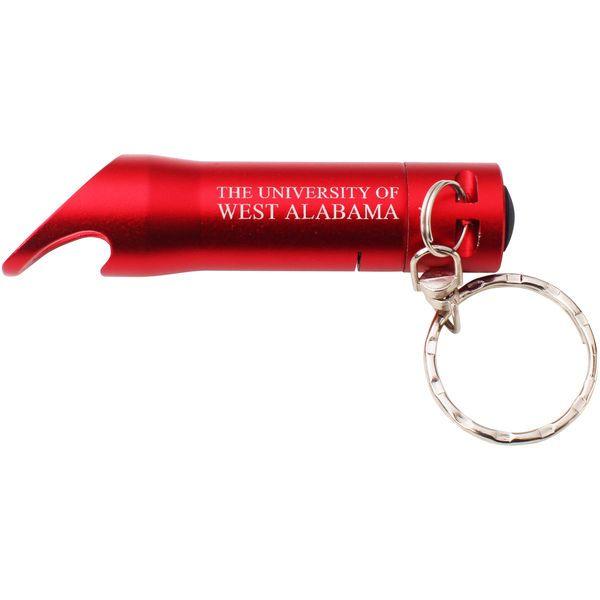 University of West Alabama Flashlight Bottle Opener Key Tag - Red - $4.99