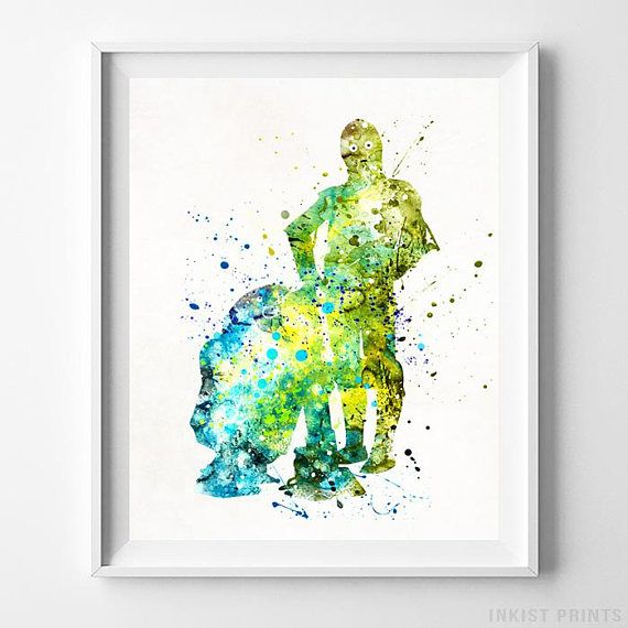 C3PO and R2D2, Star Wars Watercolor Wall Art Poster - Prices from $9.95 - Click Photo for Details - #starwars#christmasgift#giftfordad#starwarsfan#giftforson #C3PO #R2D2