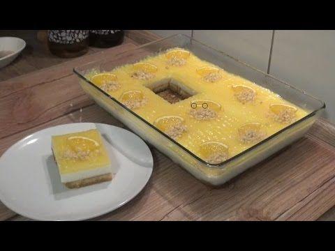 Muhallebili Kramelli Etimek Tatlisi Tarifi(portakalsoslu) - YouTube