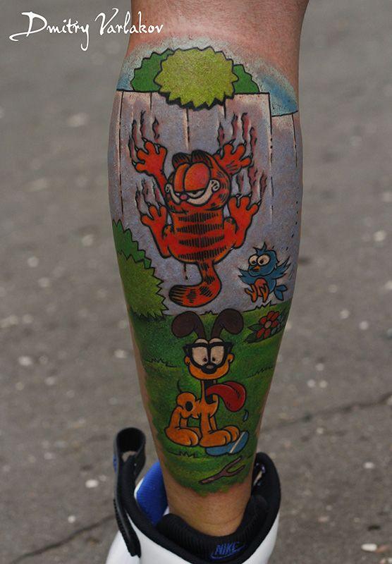 Garfield) #varlakovtatto #musthavetattoo #realistictattoo #tattoo #tattooart #tattooinmoscow #татуировка #tattooweek2015 #татухи #garfield