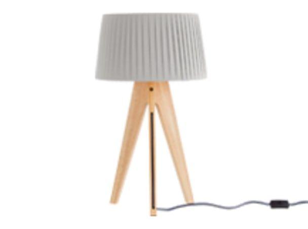 Miller lampe de table bois naturel et bleu marine chambre