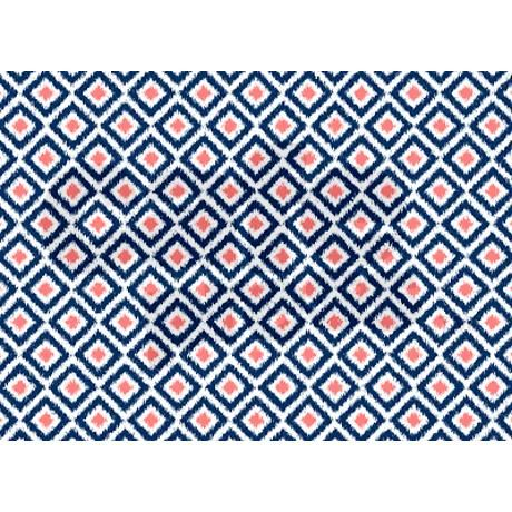 Navy Blue Coral Ikat Pattern 5'x7'Area Rug on CafePress.com