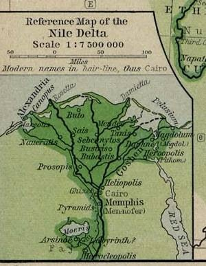 Map of the Nile Delta