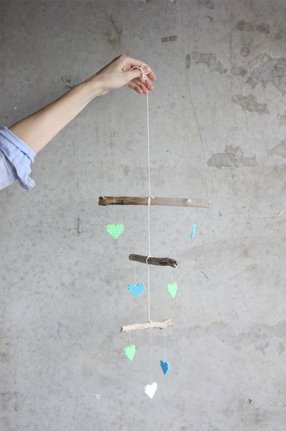 Rustic baby mobile
