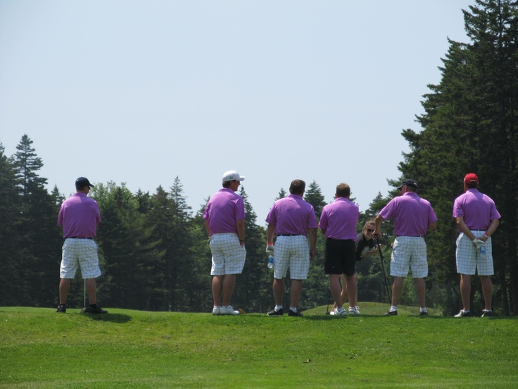 The Celebrity Golf Tournament in Digby, Nova Scotia, Canada.