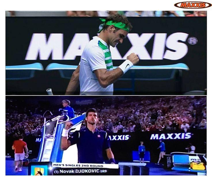 A Maxxis patrocina Open da Austrália 2016. É para a Lusomotos um orgulho ver a marca destacada ao lado de estrelas do ténis mundial como Novak Djokovic e Roger Federer.  #maxxis #lusomotos #pneus #openaustrália #austrália #rogerfederer #novakdjokovic