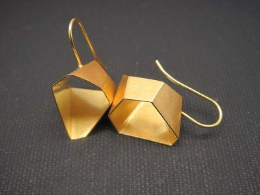 Letizia Plankensteiner –Schmuckunikate, Ohrringe Gold geometrisch