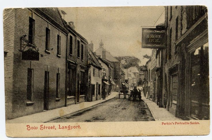 LANGPORT,SOMERSET,SOUTH WEST ENGLAND,UK,BOW STREET,ANGEL INN,USED 1904,SQ CIRCLE | eBay